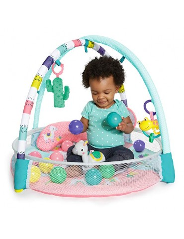 Bright Starts Rounds Of Fun - Gimnasio de actividad y piscina de Bolas 4-In-1